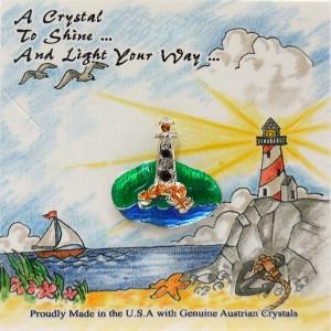 51-347 Lighthouse On Green Grass Ocean