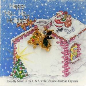 51-402-G-EM  Emerald Angel Holding Christmas Tree