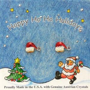 54-201  Santa Hat Earrings Holiday