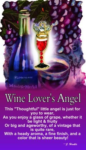 869   Wine Lover's Angel