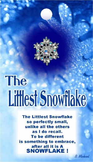 9149 The Littlest Snowflake (Sm Snowflake)