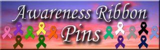 Cancer Awareness Ribbon Pins