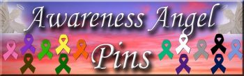 Cancer Awareness Angel Pins
