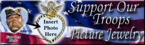 Support Our Troops Picture Jewelry