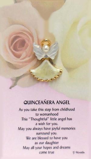 Quinceanera Angel in Spanish
