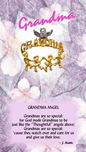 597 Grandma Angel Pin
