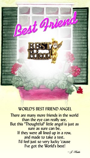 Our World's Best Friend Angel pin has a Best Friend banner with an angel right by it's side. Layered in a 14Kt gold finish with a Genuine Austrian Crystal head. Each pin comes on a colorful greeting card that can be used as a gift card.