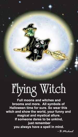 Flying Crystal Witch
