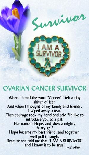 Ovarian Cancer Survivor Pin