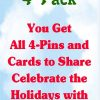 4-Pack Holiday Wording Card